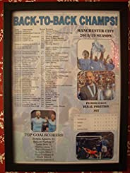 Sports Prints UK Manchester City 2019 Premier League Champions - Framed Print