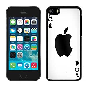 New Personalized Custom Designed For iPhone 5C Phone Case For Ace Playing Card Apple Logo Phone Case Cover