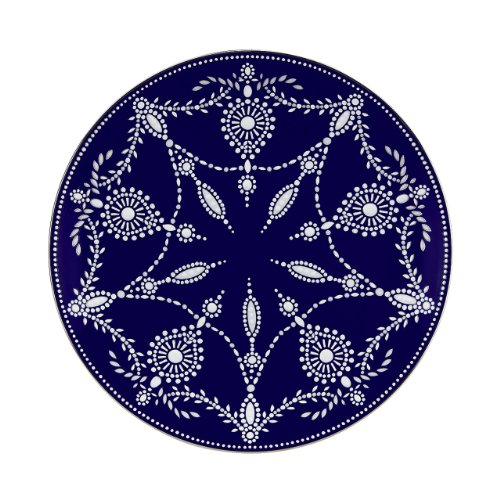 Lenox Marchesa Couture Accent Plate, Empire Pearl Indigo