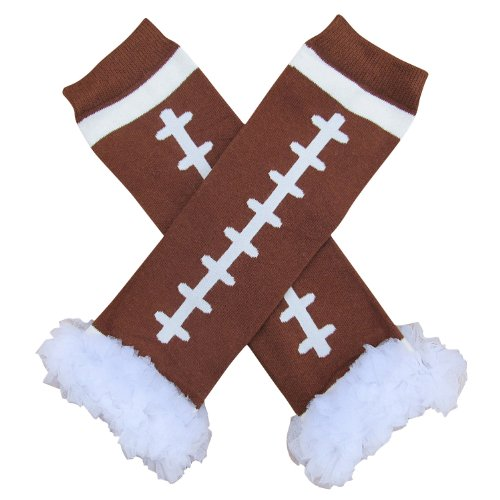 Football Halloween Costumes Toddler (Chiffon Ruffle Halloween Costume Spooky Styles Leg Warmers - One Size - Baby, Toddler, Girl (Football))