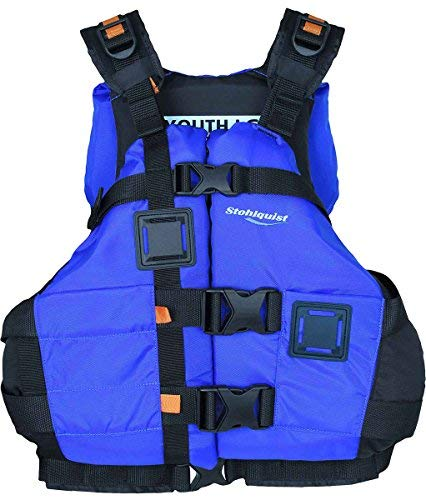 Stohlquist Canyon PFD Youth/Adult Vest, One Size, Royal Blue