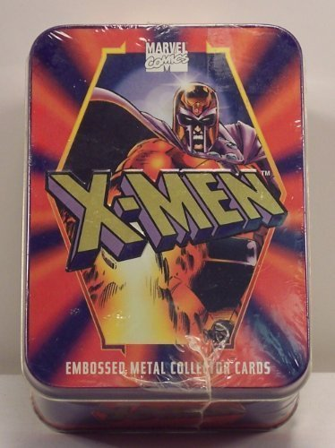 Collectors Embossed Tin (X-Men Embossed Metal Collector Cards Set in Tin by Metal Impressions)