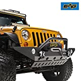EAG JK Front Bumper With Armor Skid Plate for 07-17 Jeep Wrangler JK