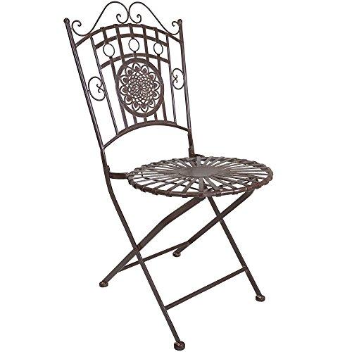 Cheap Titan Outdoors Metal Chair Porch Patio Garden Deck Decor Backyard Rustic
