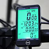 OriGlam Bike Computer, Wireless Bicycle Speedometer, Multi Function Waterproof Cycling Odometer with Large LCD Screen Display