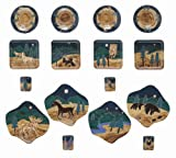 Mara Ceramic Stoneware 16 Piece Animals Odd Shape Dinnerware Set