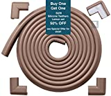 Roving Cove Edge Guard & Corner Guards set - Standard Coffee (brown) - Safe Edge & Corner Cushion - PRE-TAPED CORNERS; Childproofing;Baby Safety;Furniture Bumper;Baby Proofing;Table Protector