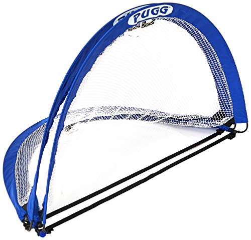 PUGG 4 Foot Pop Up Soccer Goal - Portable Training Futsal Football Net - The Original Pickup Game Goal (Two Goals & Bag) (Goal Net Game)