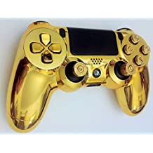 Sony PlayStation 4 Wireless Custom Controller+Metallic Gold Ps4 Gamepad Shell Case+ps4 Brass Bullet Buttons And Analog Sticks. A DualShock 4 Custom Controller