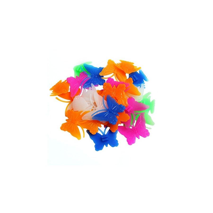 Heart Butterfly Bicycle Bike Spokes Wheels Wire Spoke Beads Wheel Spokes Beads Decorations Luminous Colorful Spoke Wheels