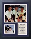 """Legends Never Die """"Whitey Ford, Mickey Mantle and Billy Martin"""" Framed Photo Collage, 11 x 14-Inch"""