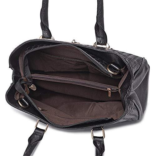Americano Europeo 3 Portafogli Set h Pu Tracolla Capacità Borsetta Unita Messenger Donna Tinta Di Stile E Borsa A Xmyl D Pezzi moda Grande Bag qxCSRwt5