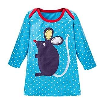 af4c29d7b Amazon.com  Toddler Baby Kids Girls Spring Cartoon Animal Dot Stripe ...