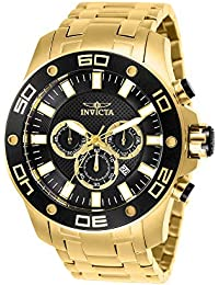 Invicta Men's Pro Diver 26076 Gold Stainless-Steel Quartz Diving Watch