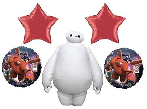 Price comparison product image Disney Big Hero 6 Birthday Party Favor Supplies 5ct Foil Balloons Bouquet