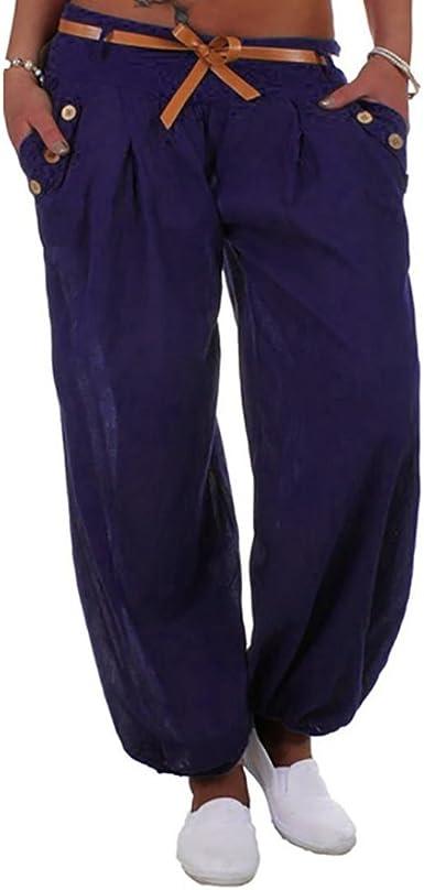 Pantalón Sudadera Baggy Yoga Mujer Pantalones de Yoga Algodón ...