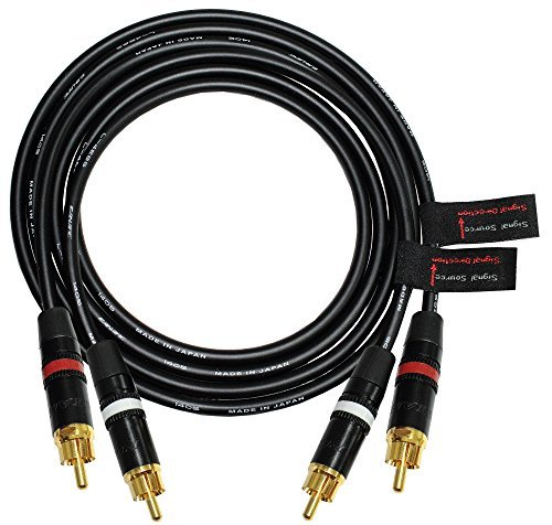 4 Foot RCA Cable Pair - Made with Canare L-4E6S, Star Quad, Audio Interconnect Cable and Neutrik-Rean NYS Gold RCA Connectors - Directional Design - CUSTOM MADE By WORLDS BEST CABLES