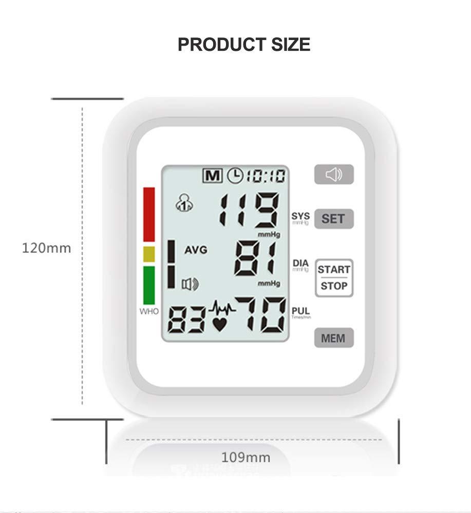 Esfigmomanómetro electrónico de tipo brazo totalmente automático, protección contra sobrepresión y transmisión de voz, adecuado para medir la circunferencia ...