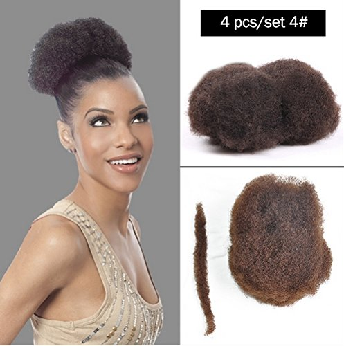 Yonna Hair 4pcs/lot Tight Afro Kinky Bulk Hair 100% Human Hair For DreadLocks,Twist Braids #4,8