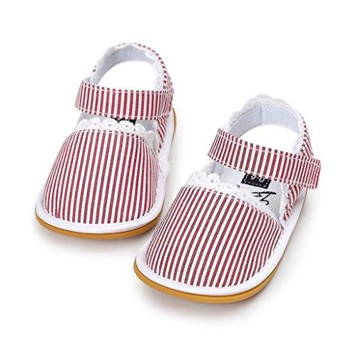 Baby Schuhe Auxma Baby Frühling Sommer Prinzessin erste Wanderer Schuhe Sandalen für 0-6 6-12 12-18 Monat (0-6 M, C) B