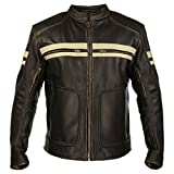 Xelement BXU165250 Mens Brown Leather Cruiser Jacket - 3X...