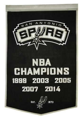 San Antonio Spurs NBA Finals Championship Dynasty Banner - with hanging rod