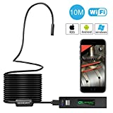 Wireless inspection camera, GOODAN Updated 1200P HD Wifi Endoscope borescope With 2.0 Megapixels 1200P HD Snake Camera For Iphone and Android Smartphone, Table, Ipad, PC - Black (33.5FT)
