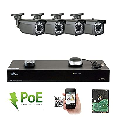 GW 4K NVR 1920P Video Security Camera System - 5MP 1920P Weatherproof 2.8-12mm Varifocal Cameras, Realtime Video Recording by GW Security Inc
