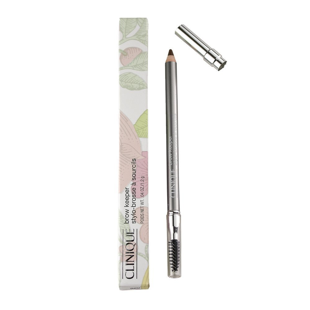Clinique Brow Keeper Brow Pencil with Brush, Full Size .04oz/1.2g, 02 Honey