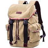 DGY Vintage Backpack Canvas Backpack School Backpack Rucksack Travel Backpack G00131 (Khaki) For Sale