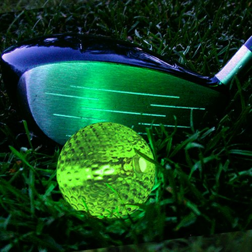 Glowing Golf Balls (Set of 20 Balls) - Glow Golf Balls with Assorted Color Inserts