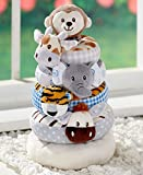 The Lakeside Collection Baby Build-It Plush Jungle Stacker