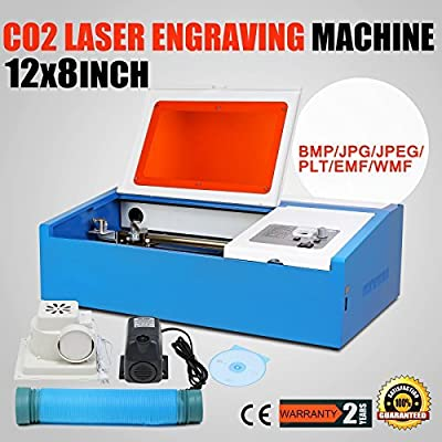 Eteyo Laser Engraver with Usb Co2 Laser Engraving Cutting Machine Parallel Port Support High Precise 40w 200*300mm
