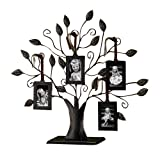 "Klikel 13"" Medium Bronze Family Tree of Life Centerpiece Display Stand With 4 Hanging Photo Picture Frames"