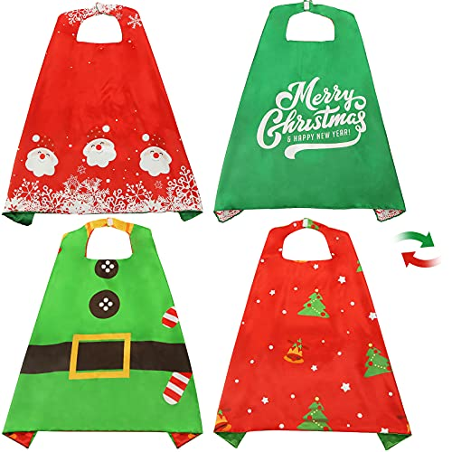 3 otters Christmas Costumes for Kids , Christmas Cape Kids Christmas Dress Up Kids Cape Christmas Gifts 2pcs