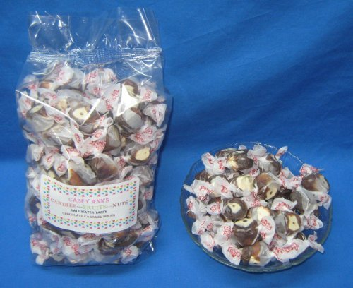 Chocolate Caramel Mocha Flavored Taffy Town Salt Water Taffy 2 Pounds by Taffy Town