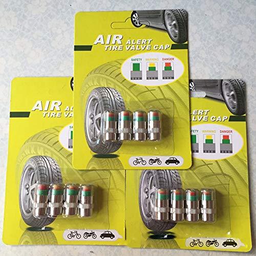 HermosaUKnight Tappi valvole valvole per Auto Indicatore sensore di Pressione Pneumatici antifurto