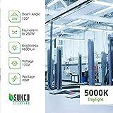 Sunco Lighting 16 Pack LED Utility Shop Light, 4