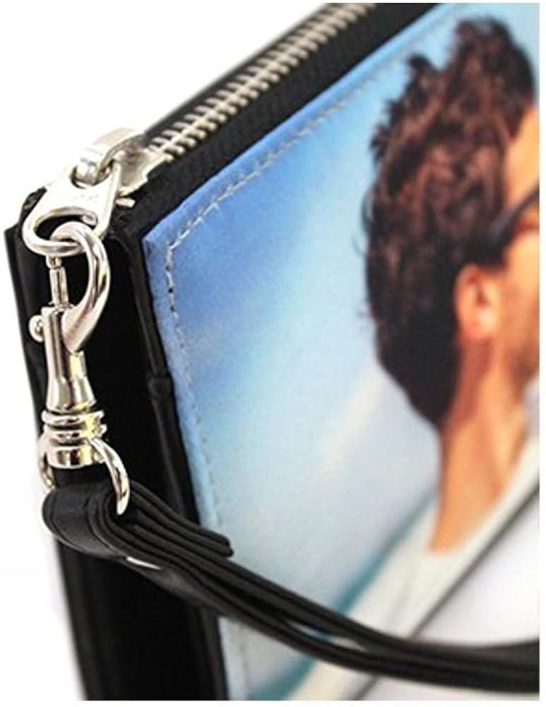 Personalized Black Eiffel Tower Genuine Leather Smartphone Wrist Wallet