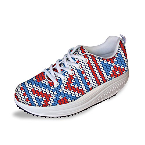 Bohemia Swing Sneaker Shoes Slimming Mesh Women's CHAQLIN Casual Pattern Breathable 4 Platform Smart dtOqUAKwx