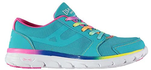 d094ef6a1639d Junior Girls Stylish Lace Up Lazulite Gym Trainers: Amazon.co.uk ...