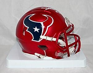 Andre Johnson Autographed Houston Texans Blaze Mini Helmet- JSA W Auth White