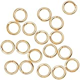 Leegoal 100-Piece 4mm Silver Plated Open Jump Rings, 21-Gauge
