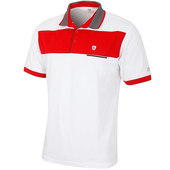 Island Green IGTS1706 - Polo para Hombre, Talla L, Color Blanco y ...
