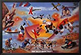 FRAMED X-Games Collage by Clement Micarelli Art Print Poster Wall Decor Extreme Sports 0