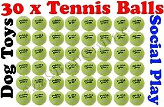 30x Balles de tennis Play Social de Cricket de Sport/Plage/Jouet pour chien, Cricket, etc. Bargains Hut
