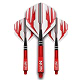 Red Dragon Dart Flight & Shaft Combo - 4 sets of Standard Flights and 4 sets of Medium Nitrotech Shafts Per Pack & Red Dragon Checkout Card