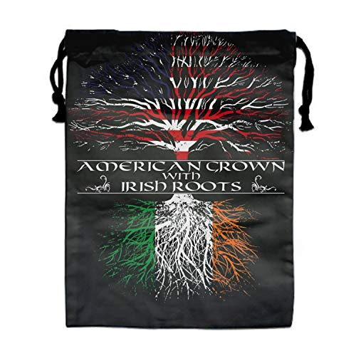 (Drawstring Backpacks Cheap for Kids Party American Grown With Irish Roots Favors Bags Gym Drawstring Bags)