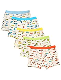 ARAUS 5 Pack Boyshort Underwear Boys Cartoon Boxer Briefs Knickers Panties Shorts