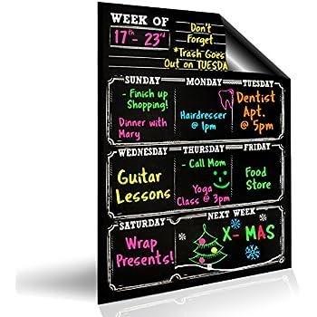 Magnetic Menu Dry Erase Weekly Meal Planner